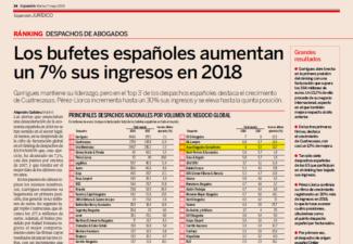 ARPA Abogados Consultores escala 3 posiciones y asciende al puesto 36 de los principales despachos de abogados españoles