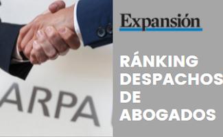 ARPA en el Ránking de Despachos de Abogados 2020 de Diario Expansión